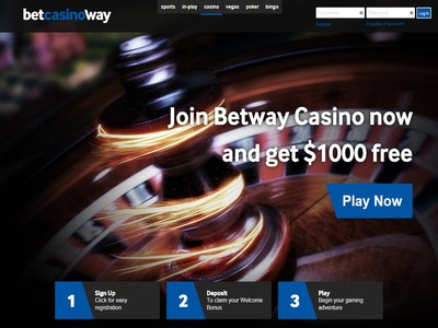 Betway Casino Homepage Screenshot