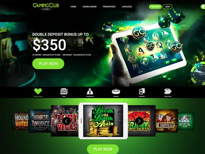Gaming Club Casino Homepage Screenshot